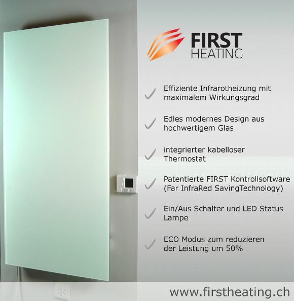 First heating wist elegant infrarotheizung