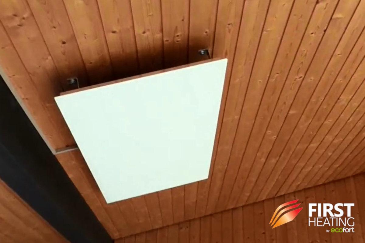 FIRST Heating Elegant Basic an der Decke in einer Wohnung